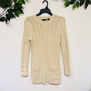 Jeanne Pierre Tunic Cable Knit Sweater
